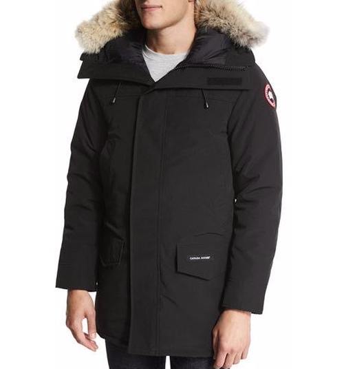 Langford Parka Coat with Fur-Trimmed Hood by Canada Goose in Justice League
