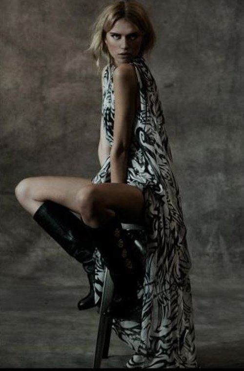 Maori Print Caftan Dress by Thomas Wylde in The Counselor