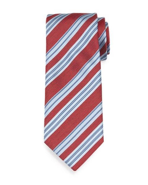 Textured Herringbone-Stripe Silk Tie by Brioni in American Horror Story - Season 5 Episode 8