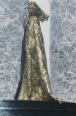 Custom Made 'Ravenna' Caped Gown by Colleen Atwood (Costume Designer) in The Huntsman: Winter's War