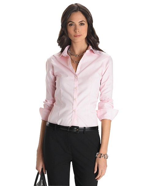 Non-Iron Fitted Dress Shirt by Brooks Brothers in Self/Less