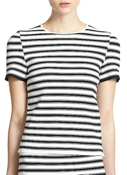 Dale Striped Crossover Top by A.L.C. in Rosewood