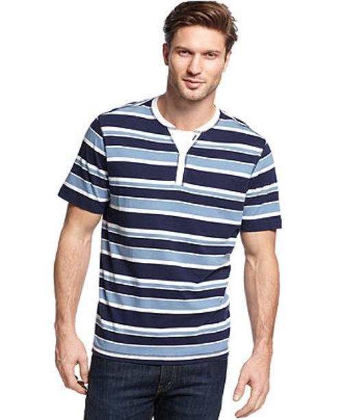 Sanford Striped Henley T-Shirt by John Ashford in The Fault In Our Stars