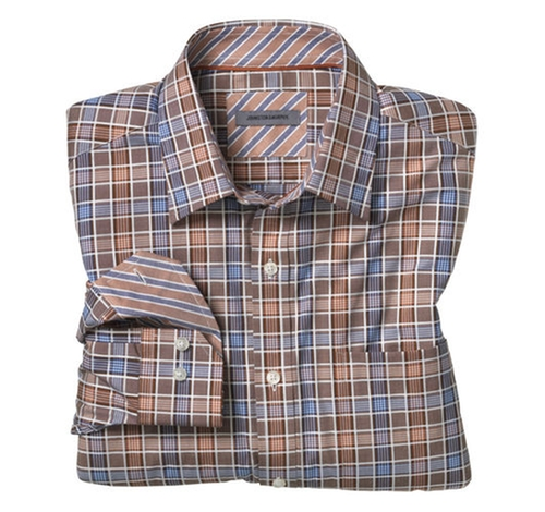 Grid Check Shirt by Johnston & Murphy in The Walk