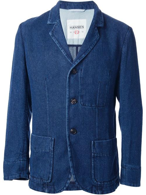 'Gustav' Denim Blazer by Hansen in Anchorman 2: The Legend Continues