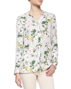 Divitri Floral-Print Silk Blouse by Joie in The Big Bang Theory