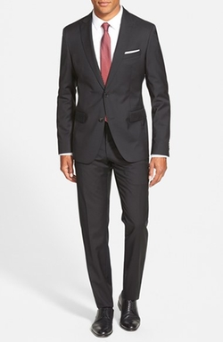 'Rayman/Wayne' Trim Fit Solid Wool Suit by Boss in The Blacklist