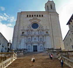 Catalonia, Spain by Girona Cathedral (Depicted as Great Sept Of Baelor) in Game of Thrones