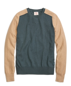 Color-Block Crewneck Sweater by Brooks Brothers in Everest