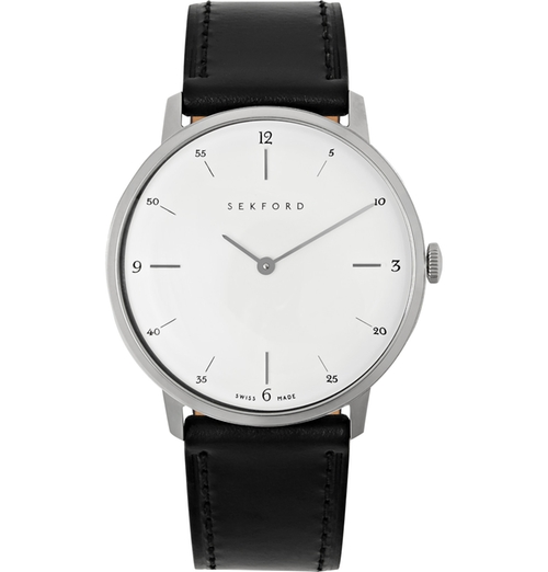 Type 1A Stainless Steel And Leather Watch by Sekford in Billions - Season 1 Episode 4
