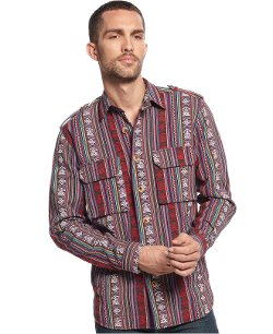 Tribal Print Shirt Jacket by Edge By Wd-ny in Taken 3