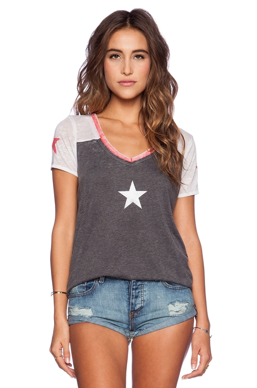 Stars T-Shirt by Chaser in Pretty Little Liars - Season 6 Episode 3