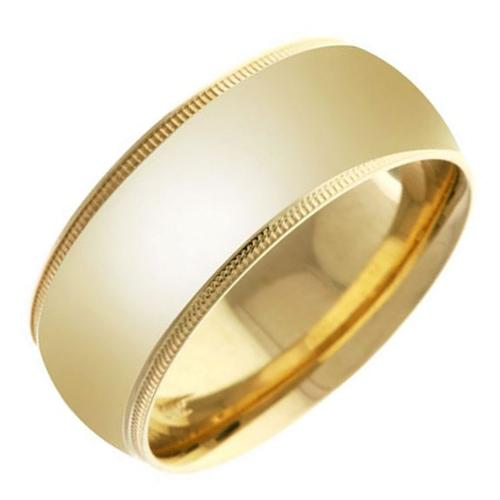 18K Gold Women's Traditional Top Flat Wedding Band by L.A. Wedding in Couple's Retreat