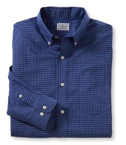 Men's Wrinkle-Resistant Mini-Check Shirt by L.L.Bean in Pain & Gain
