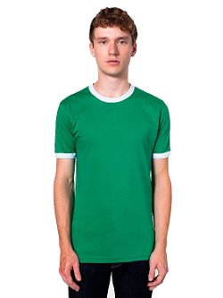 Men's Fine Jersey Ringer T-Shirt by American Apparel in McFarland, USA