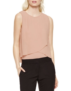 Chiffon Asymmetrical Layered Top by Vince Camuto in The Vampire Diaries