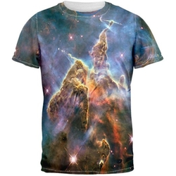 Mystic Mountain Nebula All Over Adult T-Shirt by Old Glory in We Are Your Friends