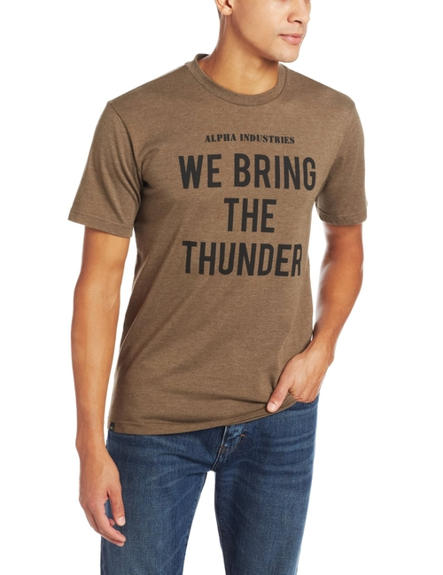 Men's Thunder Military T-Shirt by Alpha Industries in Paper Towns