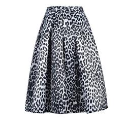 Leopard Print Midi Skirt by Choies in Fuller House