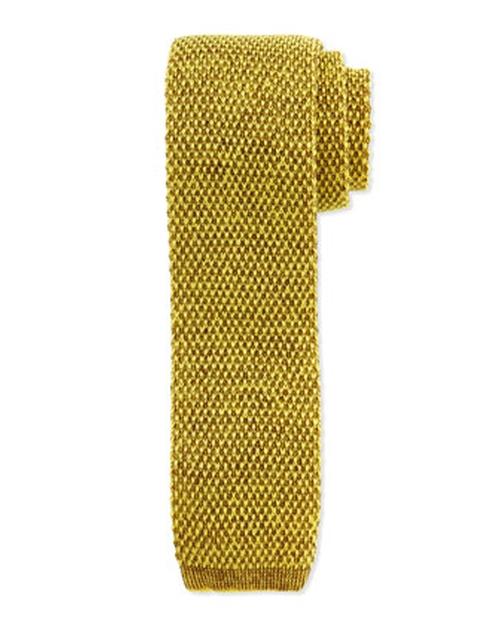 Skinny Knit Tie by Hugo Boss in Survivor