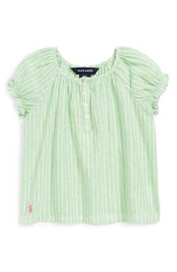 Bengal Stripe Linen Blend Top by Ralph Lauren in The Judge