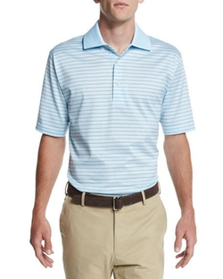 Callicut Dot-Stripe Short-Sleeve Polo Shirt by Peter Millar in Mad Dogs