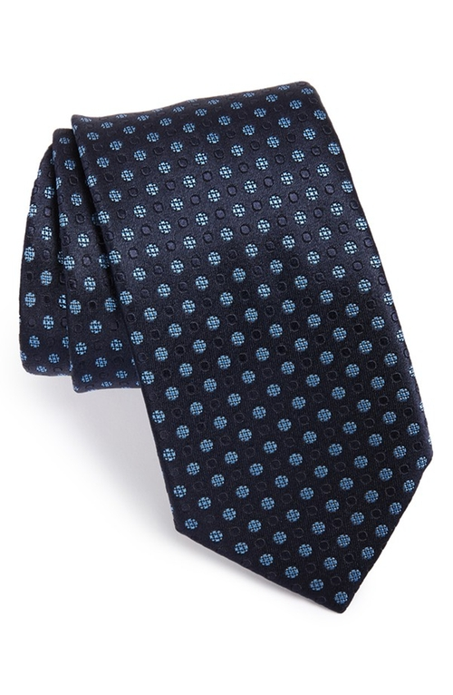 Dot Silk Tie by Ermenegildo Zegna in Suits - Season 5 Episode 8