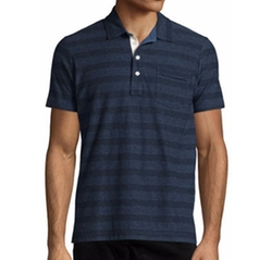 Pensacola Striped Jersey Polo Shirt by Billy Reid in Sisters