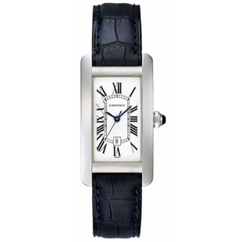 Tank Americaine White Gold Midsize Watch by Cartier in Pretty Little Liars - Season 6 Episode 8