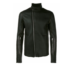 Funnel Neck Biker Jacket by Rick Owens in Power