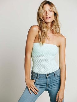 Honey Textured Tube Top by Free People in Spring Breakers