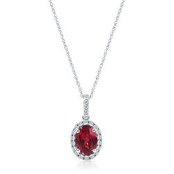 Lab-Created Ruby Pendant by Helzberg Diamonds in Avengers: Age of Ultron