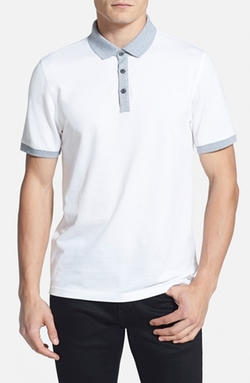 Contrast Piqué Polo Shirt by Michael Kors in 99 Homes
