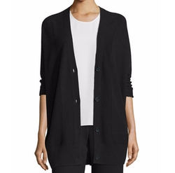 Double-Face Mesh-Panel Cardigan by Vince in The Circle