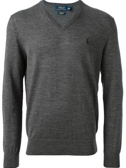 V-Neck Sweater by Polo Ralph Lauren in The Mindy Project