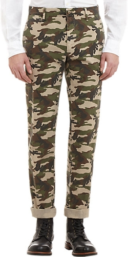 Camouflage-Patterned Trousers by Mason's in Ballers