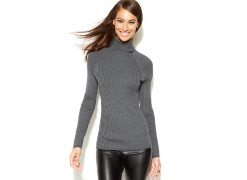Ribbed-Knit Turtleneck Sweater by INC International Concepts in The Place Beyond The Pines
