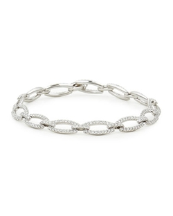 White Gold Diamond Link Bracelet by NM Diamond in Sex and the City