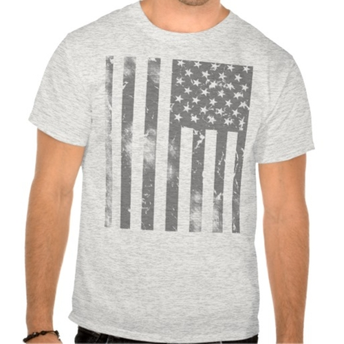 Distressed Gray American Flag Tee by Zazzle in The Blacklist - Season 3 Episode 3