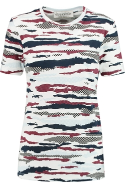 Camo Printed Cotton-Jersey T-Shirt by Etre Cecile in Scream Queens