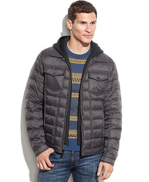 Quilted Jacket With Knit Hood by Guess in Prisoners