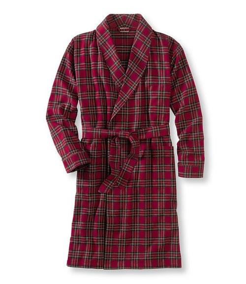 Men's Scotch Plaid Flannel Robe Tall by L.L.Bean in The Judge