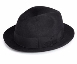 Felted Rabbit Hair Fedora Hat by Barbisio  in Empire