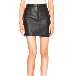 A Line Leather Skirt by Saint Laurent in Keeping Up With The Kardashians