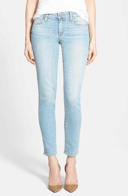 'Skyline' Ankle Peg Jeans by Paige Denim in No Escape