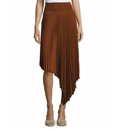 Sofia Asymmetric Pleated Midi Skirt by A.L.C. in Quantico