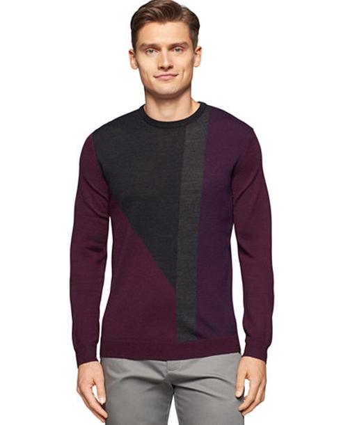 Geometric Colorblocked Sweater by Calvin Klein in Unbreakable Kimmy Schmidt - Season 2 Episode 1