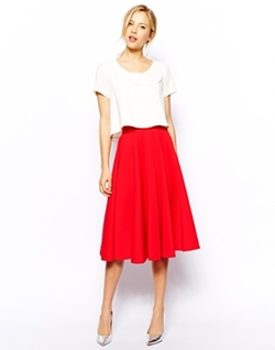 Full Skater Skirt in Scuba by Closet in The Best of Me