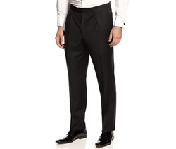 Pleated Black Tuxedo Pants by Ralph Lauren in On Her Majesty's Secret Service