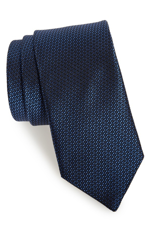 'Dot Dot Dash' Woven Silk Tie by Michael Kors in Captive